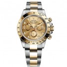 Rolex Daytona Champagne Chronograph Steel And Yellow Gold Mens Watch Fake