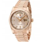 Replica Rolex Day-Date Pink Dial 18K Everose Gold President Ladies 118235PDP