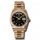 Replica Rolex Day-Date Black Dial 18K Everose Gold President Ladies 118235BKSP