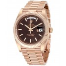 Replica Rolex Day-Date 40 Chocolate Dial 18K Everose Gold President 228235CHSP