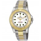 Replica Rolex Yachtmaster White Dial Oyster Bracelet Two Tone 168623WSO