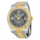 Replica Rolex Datejust II Grey Roman Dial 18kt Yellow Gold Bezel Two Tone Oyster Bracelet 116333GYRO
