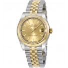imitation Rolex Datejust Champagne Dial Automatic Stainless Steel and 18kt Gold 178243CSJ