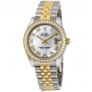 imitation Rolex Datejust Mother of Pearl Dial Automatic Stainless Steel and 18kt Gold RLX178383MRJ
