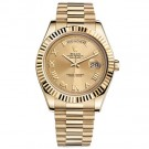 Replica Rolex Day-date II Champagne Automatic 18kt Yellow Gold Mens Watch