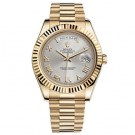 Replica Rolex Day-date II Silver Automatic 18kt Yellow Gold Mens Watch