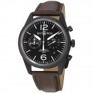 Bell & Ross BR126-ORIGINAL CARBON Vintage Black Dial and Brown Strap Watch Replica