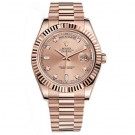 Replica Rolex Day-Date II Champagne Dial Automatic 18K Rose Gold President Mens Watch