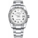 115234-WRO Rolex Perpetual White Dial Mens Automatic Watch replica