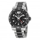 Longines Admiral GMT Black Dial Steel and Ceramic Mens Watch L3.669.4.56.7 Replica
