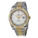 Replica Rolex Datejust II Ivory Diamond Dial Stainless Steel With 18kt Yellow Gold 116333