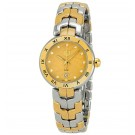 Tag Heuer Link Diamond Champagne Dial & Yellow Gold Ladies Replica Watch WAT1451.BB0955