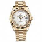Replica Rolex Day-Date II White Dial Automatic Yellow Gold President Mens Watch
