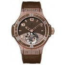Replica Hublot Big Bang Tutti Frutti Tourbillon Brown Pave 345.PC.5490.LR.0916