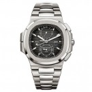 Cheap AAA Replica Patek Philippe Nautilus Travel Time Chronograph Stainless Steel Automatic 5990/1A-001