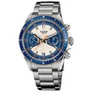 Replica Tudor Heritage Chrono Blue Silver Dial Stainless Steel Mens Watch 70330B-95740