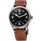 Replica Tudor Heritage Ranger Automatic Black Dial Brown Leather 79910-leather