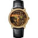 Replica Panthere Ronde Louis Cartier Wood And Gold Leaf Marquetry