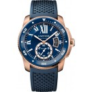 fake Calibre de Cartier Diver blue watch WGCA0010