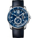 fake Calibre de Cartier Diver blue watch WSCA0010
